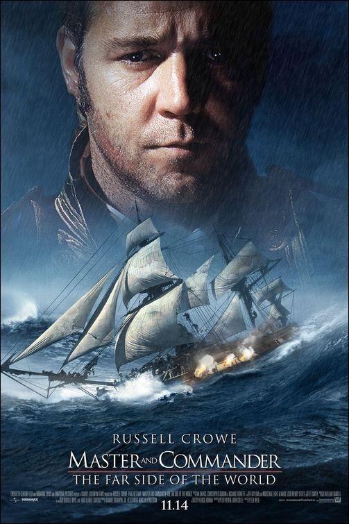 MASTER AND COMMANDER (2003) - Dir. Peter Weird - Una de las mejores películas sobre el mar. Espectaculares escenas de combates navales.