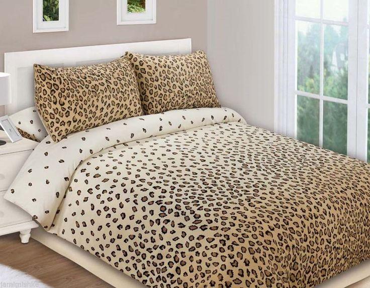 Stunning King Size Bed Leopard Foot Print Doona Duvet Quilt Set 10 Post