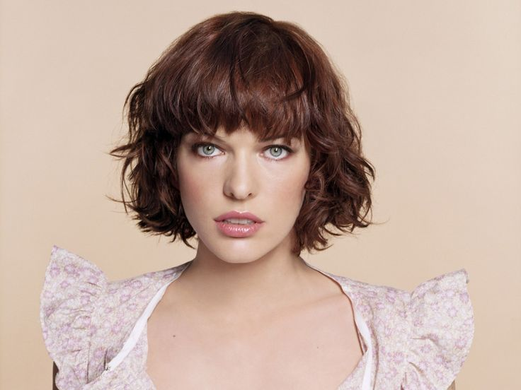 Hair Color Ideas For Short Hair Over 60: Milla Jovovich's Short Shag With Bangs. Pretty Color Too