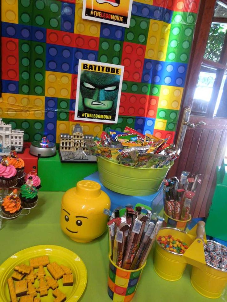 What a cool Lego Movie birthday party! See more party ideas at CatchMyParty.com!