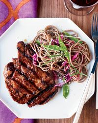 Spicy Korean grilled pork from  Food & Wine - it's as good as it looks in the photo and worth the special run to an Asian market for the chile paste!