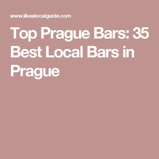 Top Prague Bars: 35 Best Local Bars in Prague