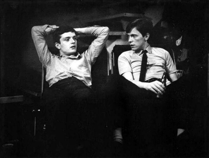 Ian Curtis and Bernard Sumner, Joy Division, 28 April 1980 - Love Will Tear Us Apart video shoot