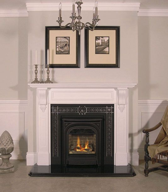 Windsor Gas Fireplace With Cheladon Marble Mantel From Victorian Fireplace Shop President Gas