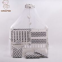 7 Pc Grey Fashion Bed Cot bedding set for newborn babies Infant Room Kids Baby Bedroom Set Nursery Bedding Sale Price:  US $124.12