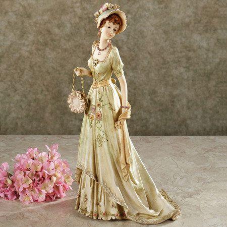 Victorian lady figurine