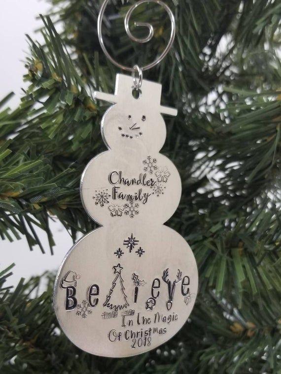 Believe in Magic Christmas Reindeer Ornament