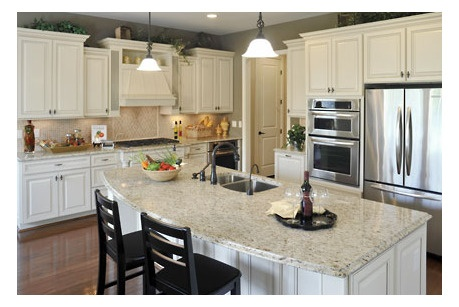 kitchen with island pembroke by drees homes at river trace future home 10658