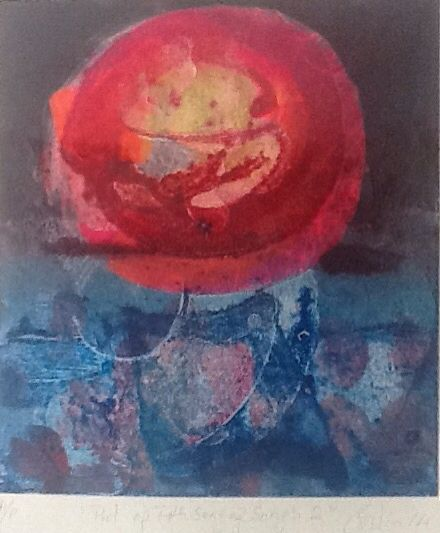 Collograph Monoprint chine colle 22 by20 cms... 2014 ..Coilin Murray