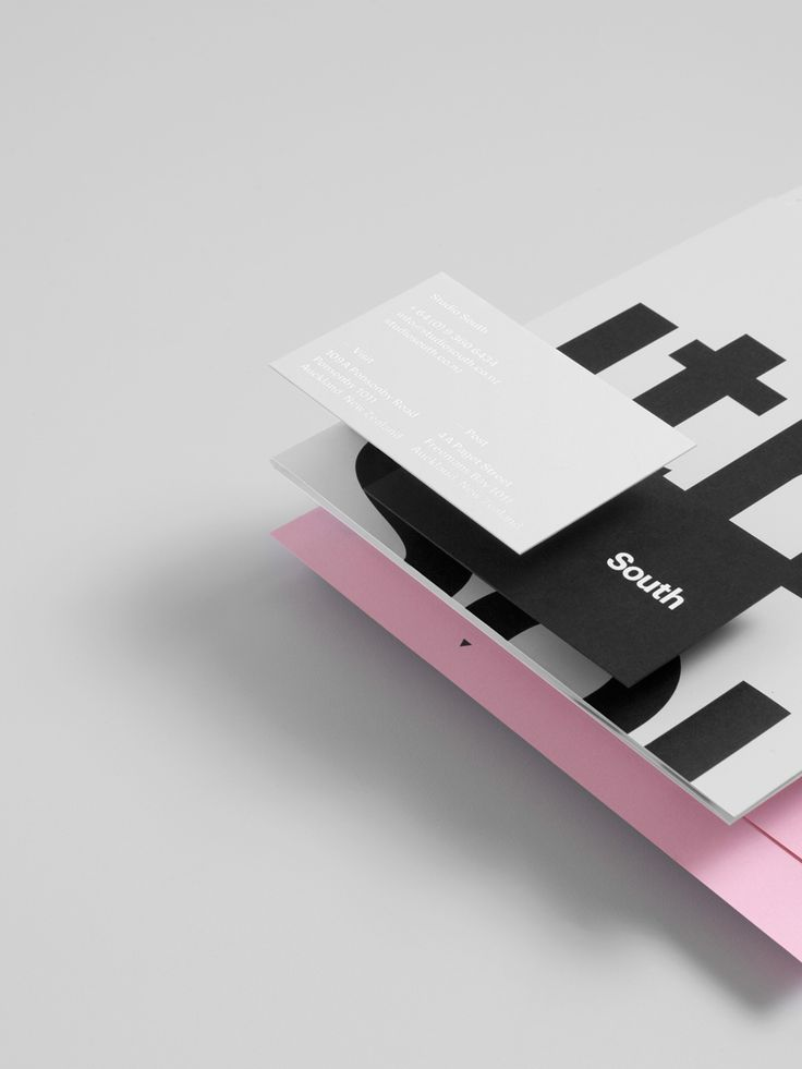 Stationery design for Auckland based graphic design business Studio South