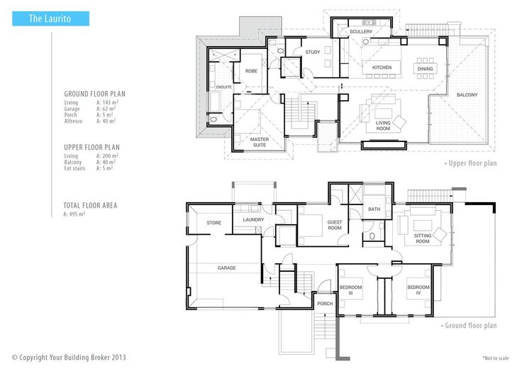 Reverse living home plans house design plans Reverse living home plans
