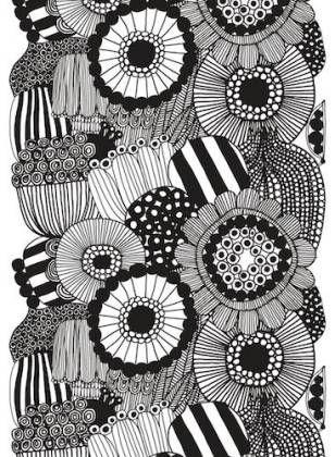 Siirtolapuutarha HW Cotton fabric by Maija Louekari, Marimekko
