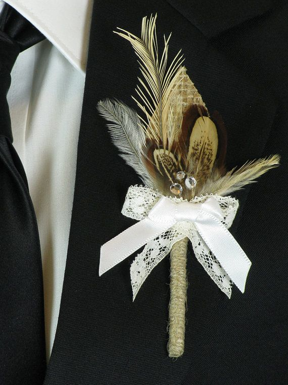 Boutonniere Rustic Wedding Groom Boutonniere by EuphoriaRoad, $10.00