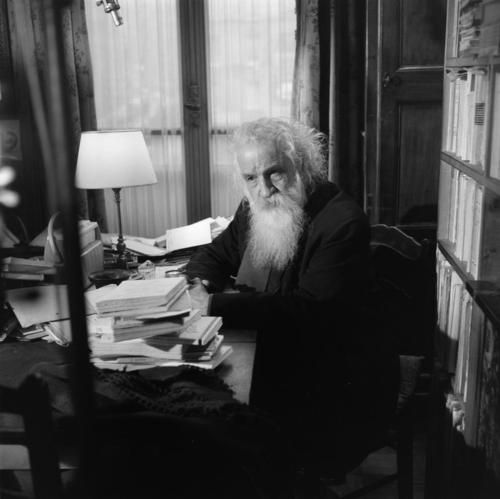 """If I were asked to name the chief benefit of the house, I should say: the house shelters day-dreaming, the house protects the dreamer, the house allows one to dream in peace."" -Gaston Bachelard at home, Paris, 1961 -by Bernard Pascucci"