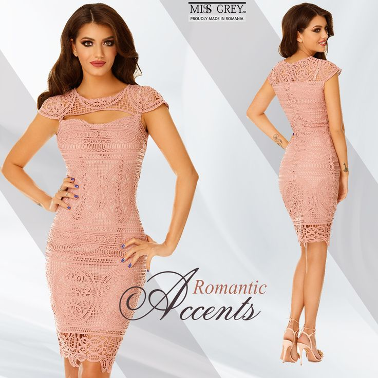 Dare to wear bodycon dresses made from precious lace and your look will become more refined. Discover the Nadia pink dress from MissGrey's new collection!