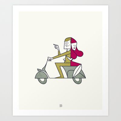 Lovers hug Art Print by Ale Giorgini - $17.60