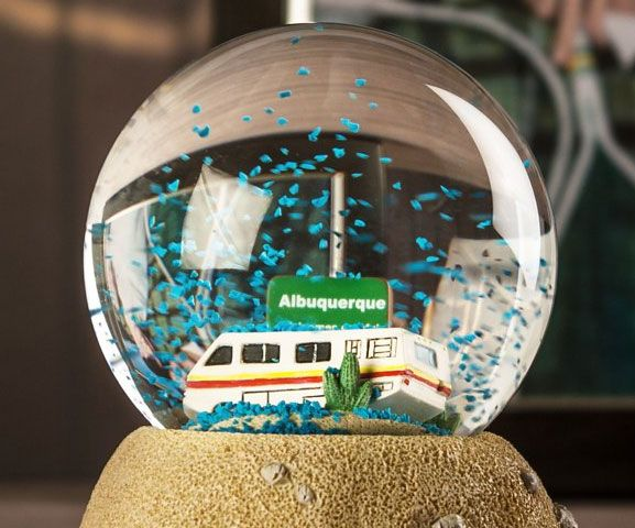 Breaking Bad Meth Snow Globe -- Reminisce up  the shy birth of Walt and Jesse's sprout authority with the Breaking Bad meth blizzard map. The blizzard map represent Walt and Jesse's first lab in the intermediate of the Albuquerque desolate – rock it up and a smoke of blue-green meth bury the RV.