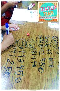 I love the idea of using dry erase markers on the desk to practice rounding. What a great way to get kids engaged. This site also includes a couple of good rounding rhymes to help students remember the rules.