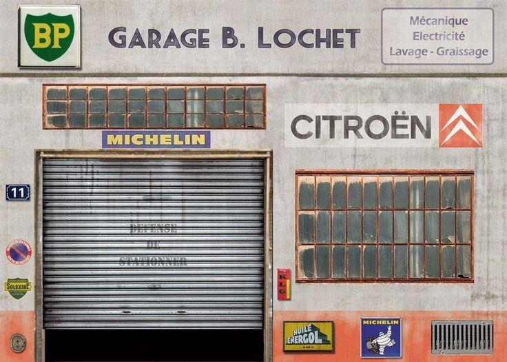 Diorama Garage Citroen 1 43 Helt Nytt Snyggt Citro 235 N