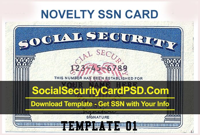 Social Security Card Psd Template Collection 2020 Social Security Card Cards Report Card Template