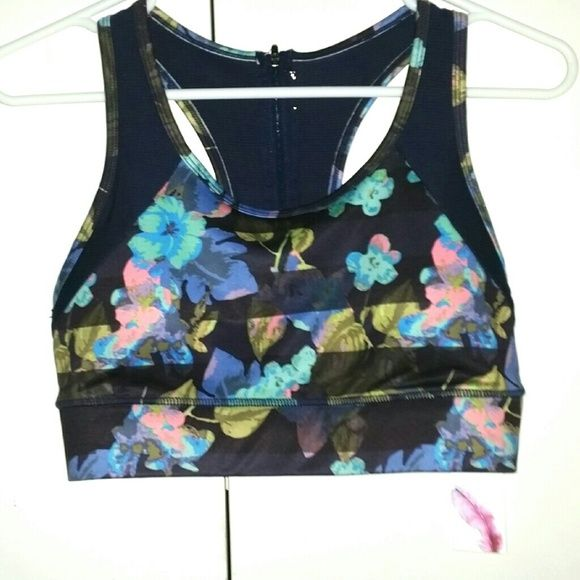 Floral Stripe Sports Bra Nwt Absolutely gorgeous!! I mean wow!This bra is seriously stunning. With a feminine look, and a bit of a rocker look this is amazing!!! Wear it to the gym, or if you have the abs .. .lol... wear it with some shorts from VS or any of my cute workout gear on my page. Also check out all my amazing sports bras, bralletes -more to come, Victoria's Secret Bras, and more. My collection is growing and all of my bras are amazing  ❌No trades--not mine. ;) Jessica Simpson…