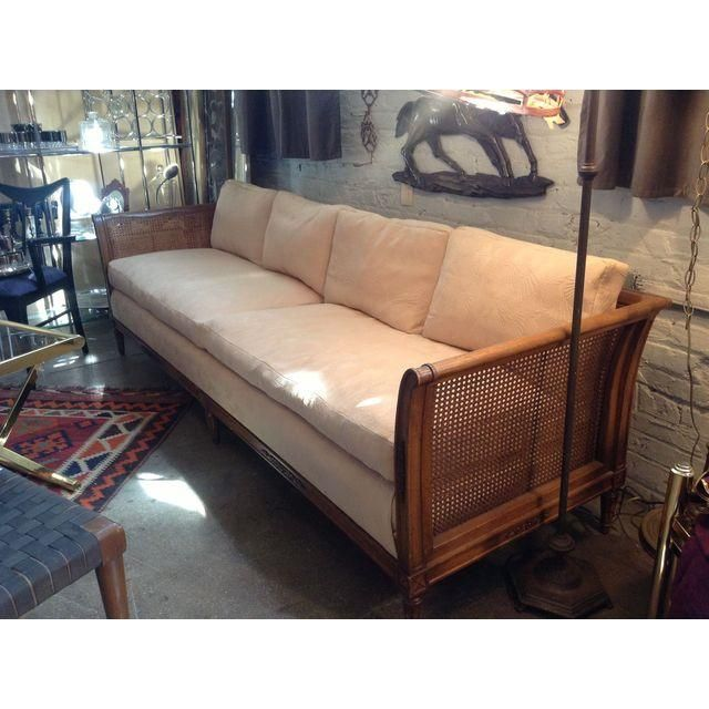 image of vintage henredon cane sofa gutierrez pinterest cane sofa furniture redo and cane furniture