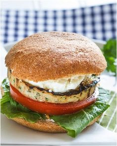 Moroccan-Spiced Turkey Burger Sous Vide. Serve with baby spinach leaves, tomato, feta cheese and baps!