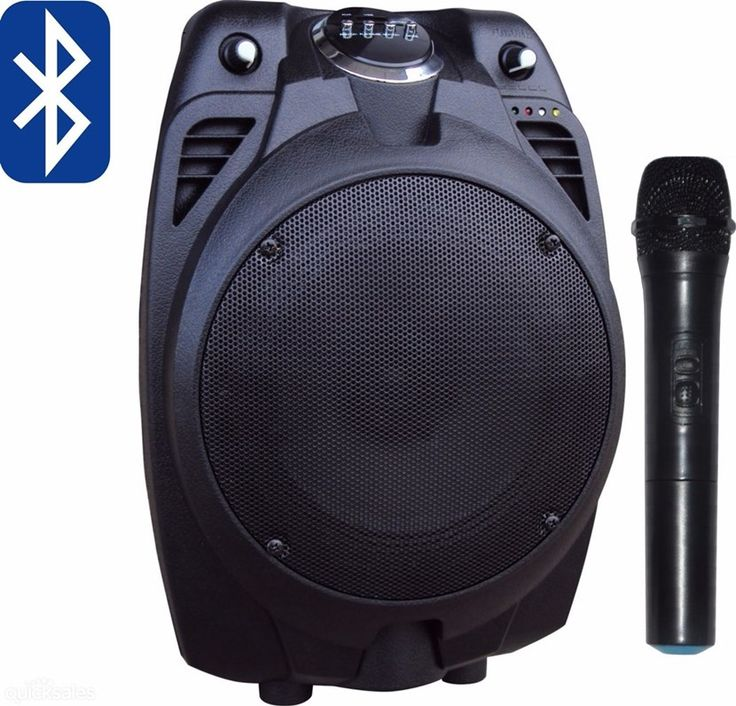 Karaoke Machine System Amplifier USB Player Microphone Bluetooth Speaker Radio by outlet24seven - $89.95
