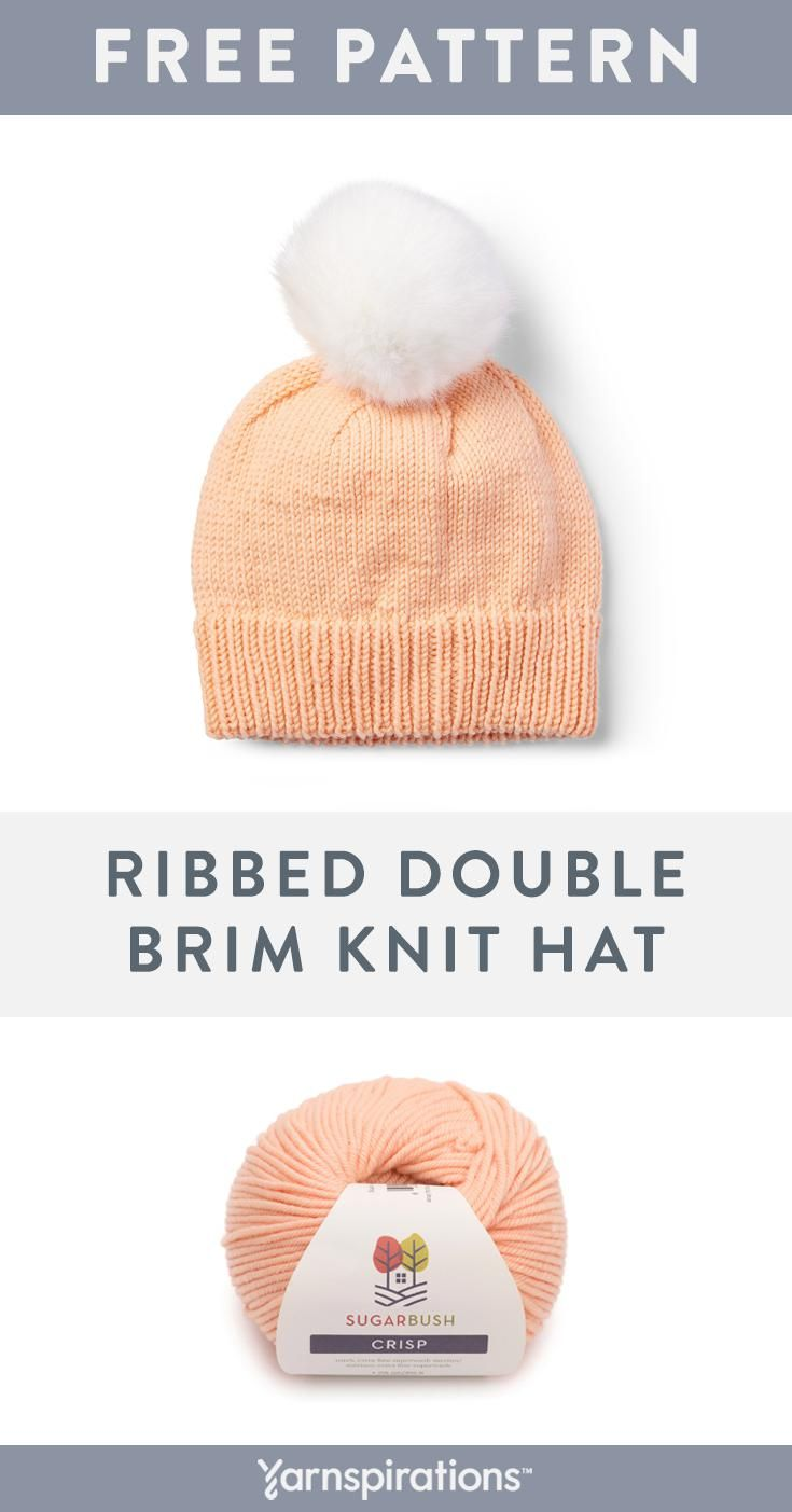 This Free Classic Hat Knitting Pattern Features A Cozy Ribbed Double Brim Made With Sugar Bush Knitting Patterns Free Hats Hat Knitting Patterns Knitted Hats