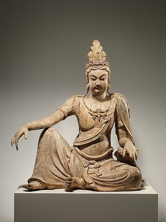 "Bodhisattva Avalokiteshvara in ""Water Moon"" Form (Shuiyue Guanyin) at the Metropolitan Museum of Art. 11th century, China."