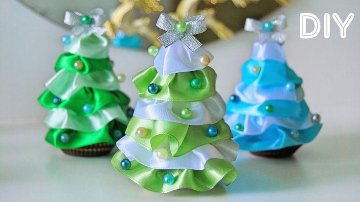 Елочки для украшения Праздничного стола / Simple Christmas Trees / DIY ✿...