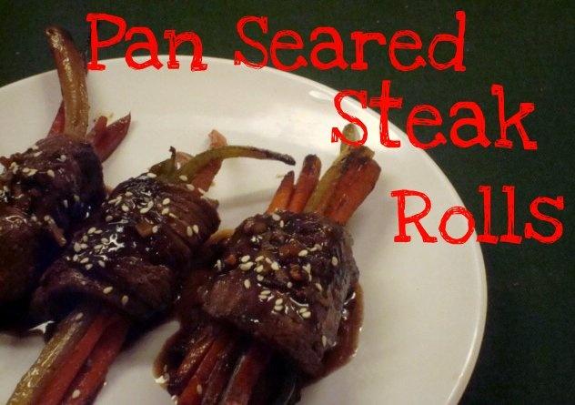 Pan Seared Steak Rolls on MyRecipeMagic.com