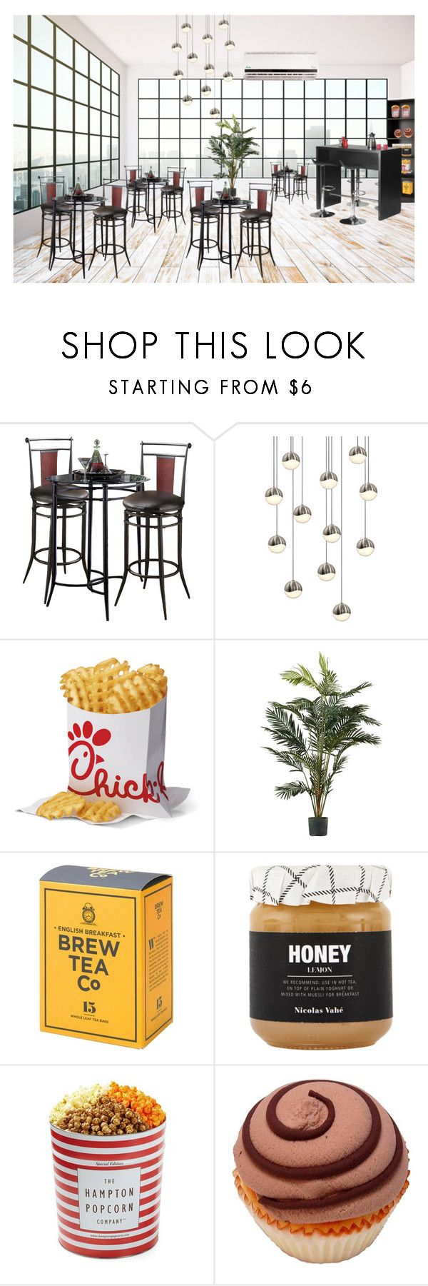 """cafe"" by esoso ❤ liked on Polyvore featuring interior, interiors, interior design, home, home decor, interior decorating, Hillsdale Furniture, Sonneman, Nicolas Vahé and The Hampton Popcorn Company"