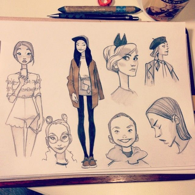 Anna Cattish #sketching #girls #lookbook #fashion156