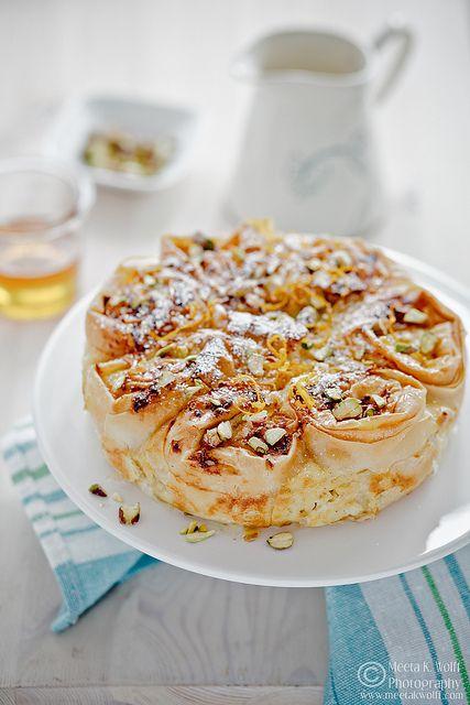 Greek-Style Creamy Custard Phyllo Pie