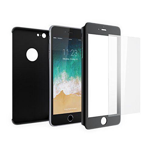 Funda iPhone 6s 360 Integral Para Ambas Caras + Protector de Pantalla de Vidrio Templado, Mobilyos® [ 360 ° ] [ Negro ] Case / Cover / Carcasa iPhone 6s / 6 #Funda #iPhone #Integral #Para #Ambas #Caras #Protector #Pantalla #Vidrio #Templado, #Mobilyos® #Negro #Case #Cover #Carcasa