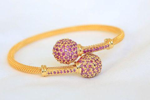 Ruby CZ Bracelet Openable - AristaBeads Jewelry - 1