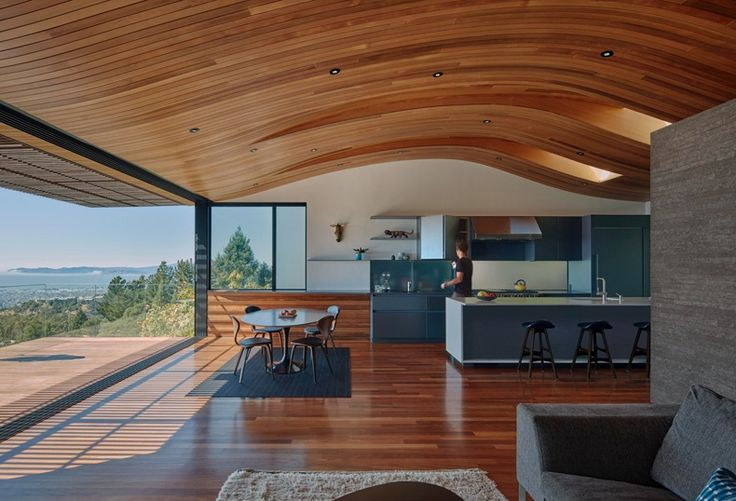Remodeled House Features A Wavy Ceiling Covered In Wood | The Best Wood Furniture