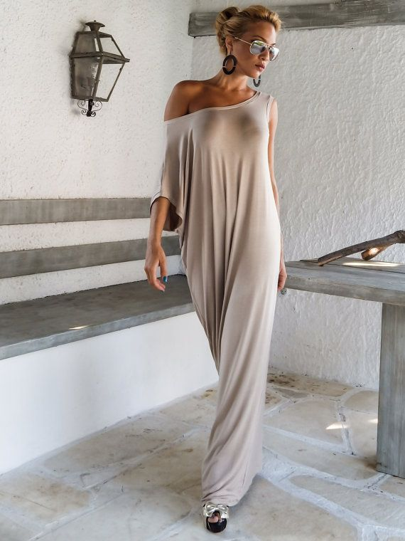 Hey, I found this really awesome Etsy listing at https://www.etsy.com/listing/203371777/viscose-maxi-dress-beige-kaftan