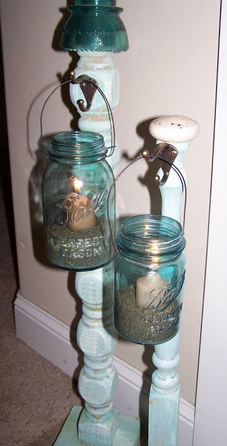 DIY Porch Candle Holders