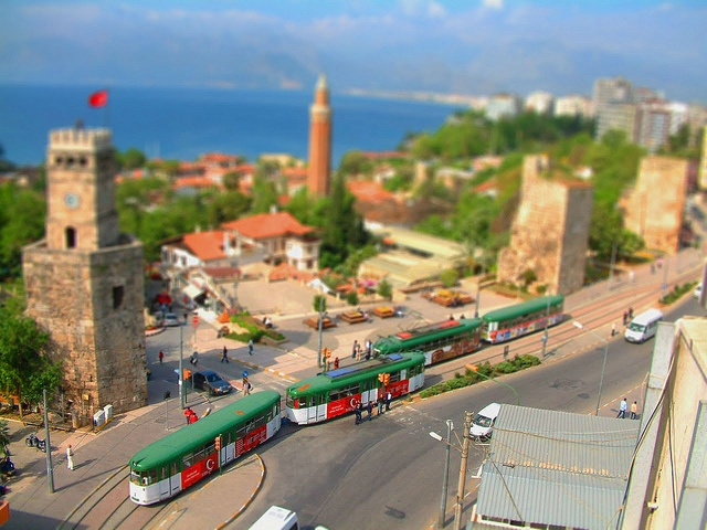 Tilt Shift. <3 Antalya Kale Kapi (clock tower), Turkey #antalya #turkey