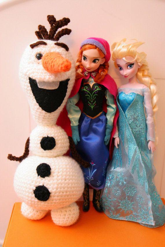 Crochet Olaf the Snowman PDF Pattern by 2KidslandKrafts on Etsy