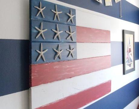 flag with starfish