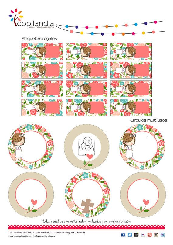 First Communion Printable Kit by Kissthefrogeventos on Etsy