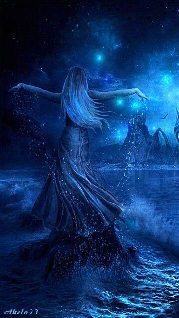 Light darkness magic stars serenity beauty love