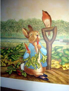 Peter Rabbit Mural Inspired By Beatrix Potter Contemporary