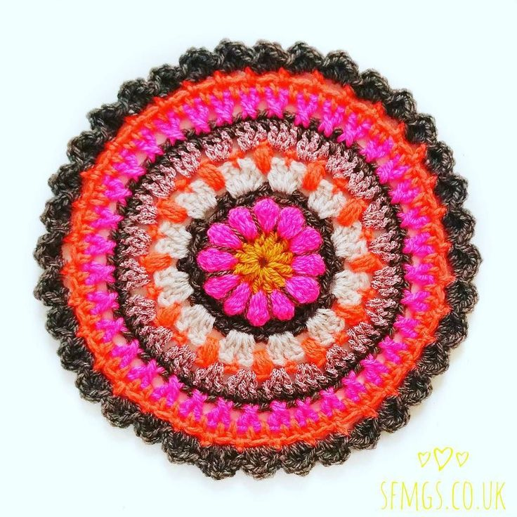 Yay! This morning's Flower Mandala pattern now up on the blog  www.sfmgs.co.uk  I am much quicker at typing these up now  Mr B and the kitties are very happy as it means their dinner arrives in front of them far less burnt and much earlier on a Monday now than it used to  Expect a little spam with this one... feels like I got my Crojo back again  #SFMGS #crochetaddict #crocheteveryday