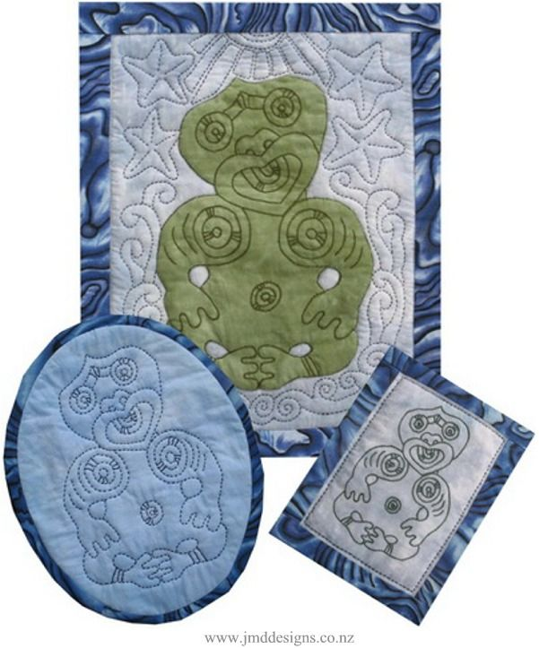 Maori Tiki Collection - Quilting and Applique with patterns