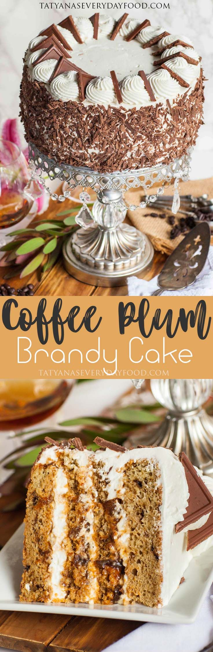 Coffee Prune Cake With Brandy - Tatyanas Everyday Food