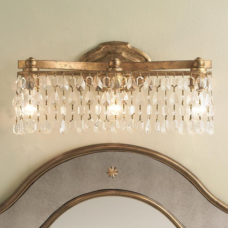 Marvelous Crystal Pendalogue Curtain Bath Light